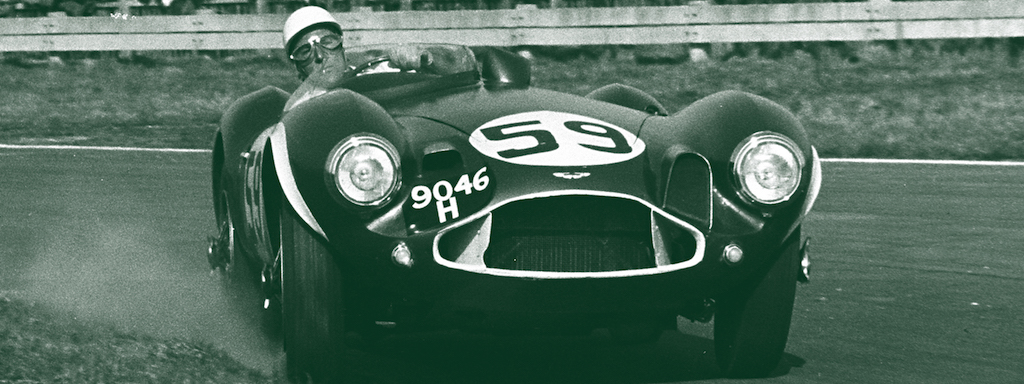 Aston Martin DB3S racing in period. Photo courtesy of Aston Martin.