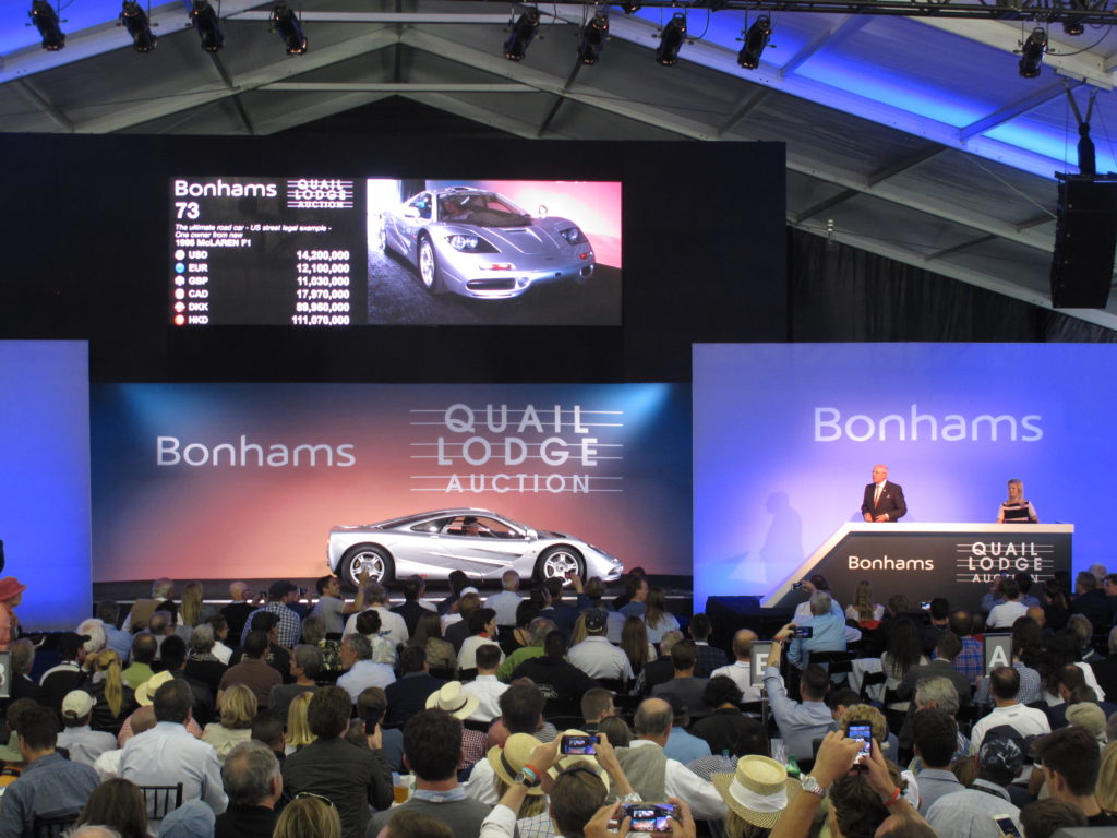Bonhams Quail auction - McLaren