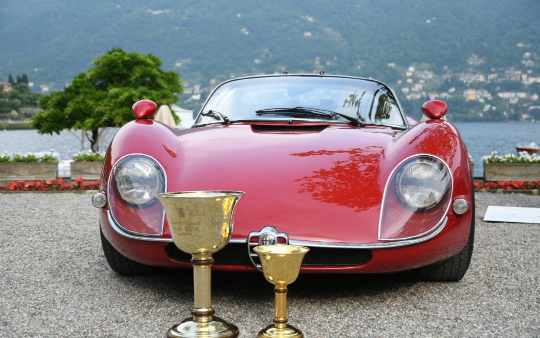 Italian race cars dominate Concorso d'Eleganza 2018