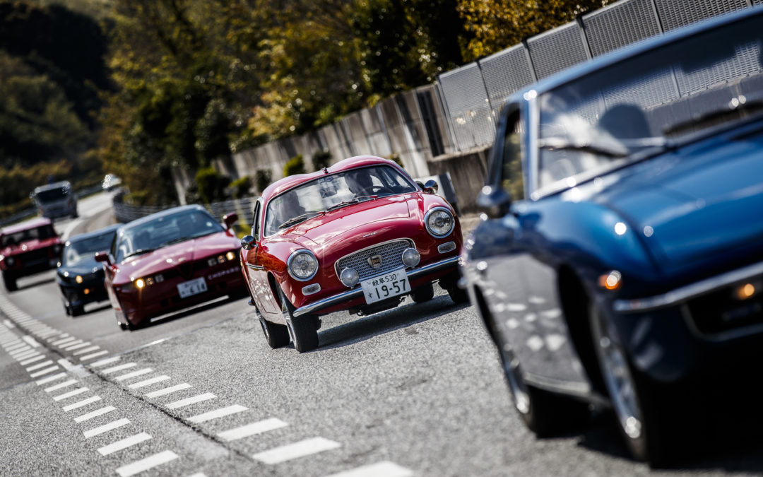 Classic Cars on the Roads of Japanese Tradition